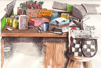 Crafts room desk
