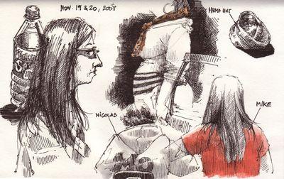 Nicolas & Mike doodles