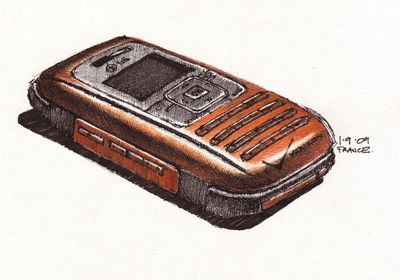 Green's LG phone