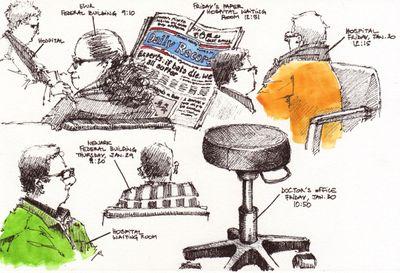 INS & Hospital doodles