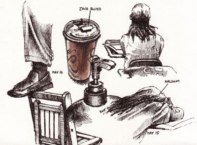 Java blues doodles