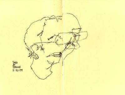 Contour drawing Todd