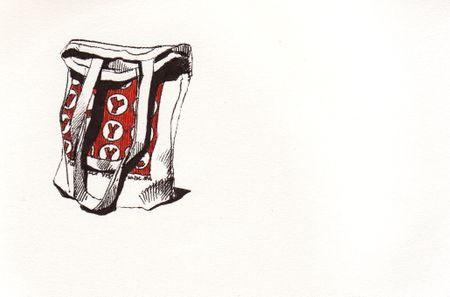 WNYC tote in sketchbook