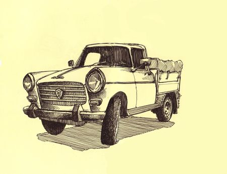 Peugeot pick up 404 in Moleskine