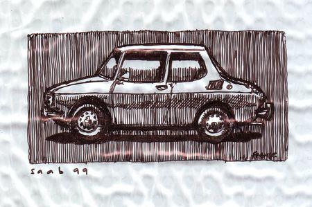 Saab 99 with Sharpie