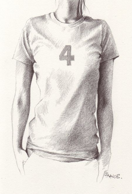4 years on a t-shirt 2B pencil