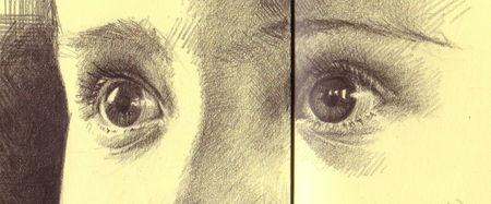 Nora's eyes B pencil