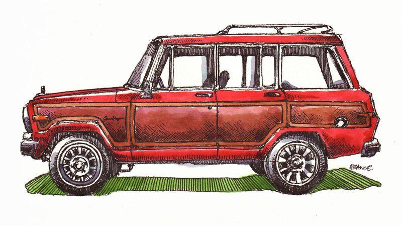 Red Grand Wagoneer