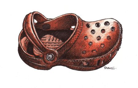 Right orange Croc with Pilot V7 lower res