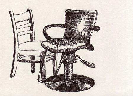 Deux chaises au stylo