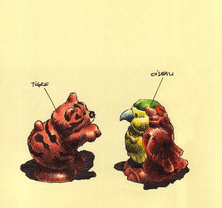 Tigre & oiseau