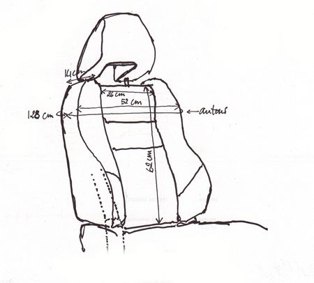 Dessin siège passager 3:4