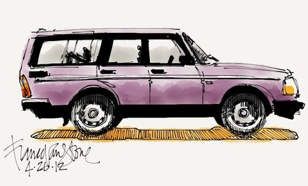 Volvo 240 wagon w:Paper cropped