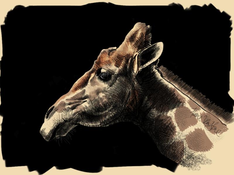 Giraffe with Brushes