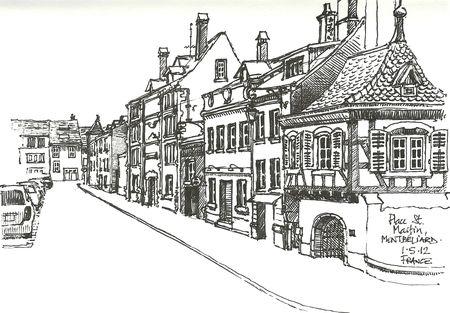 Place St Martin, Montbéliard with B2P pen