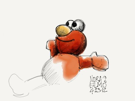 Nora's Elmo on Paper for iPad