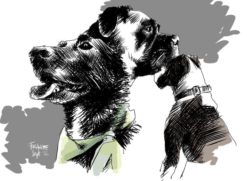 Some Dogs Practice with Procreate
