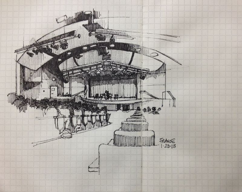 MOHS auditorium in Moleskine