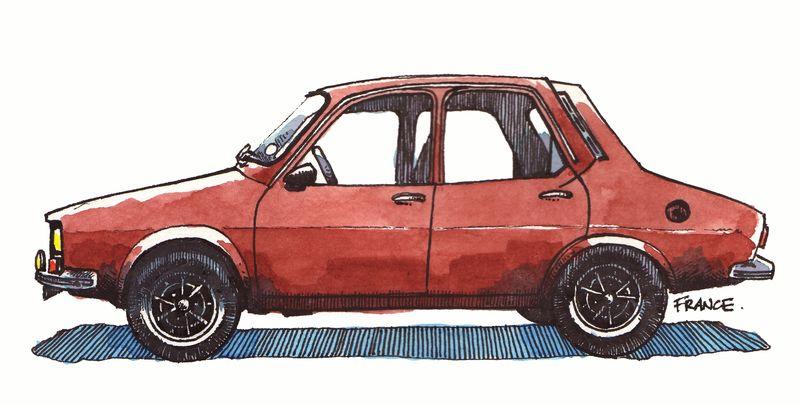Renault12 Lady photoshopped