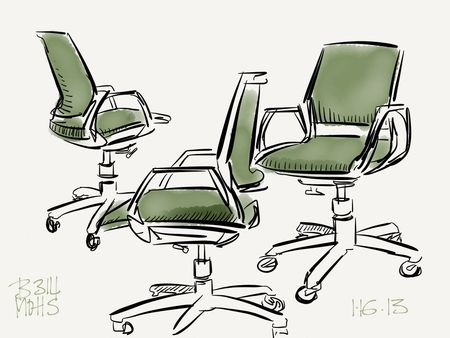 My green office chair