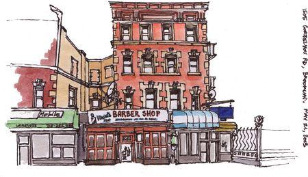 Barber shop on Cortelyou Rd & Marlborough