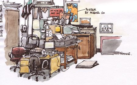 Sketching in Diane's classroom