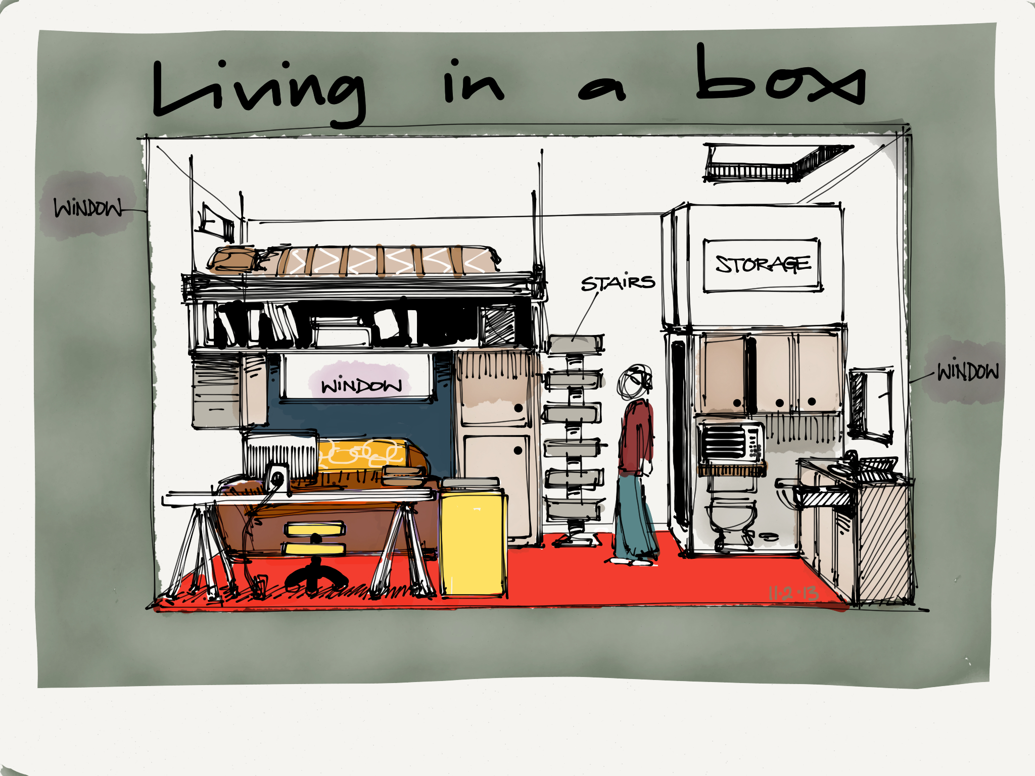 wagonized: Living in a box