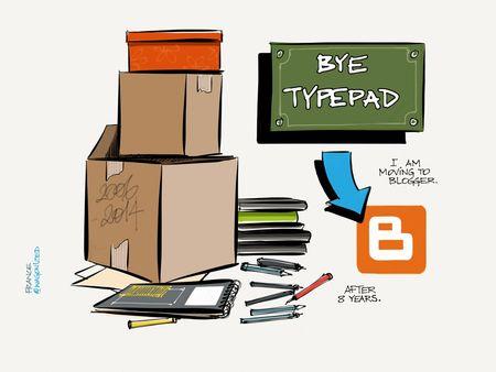 Bye, Typepad