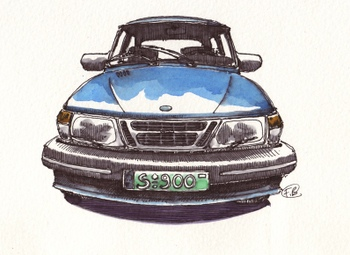 Saab_900_grille_2