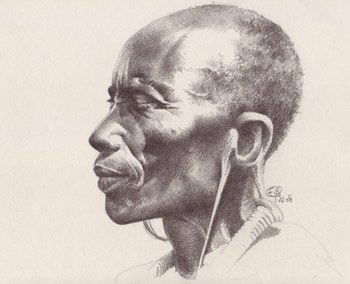 Pencil Drawing Face Profile