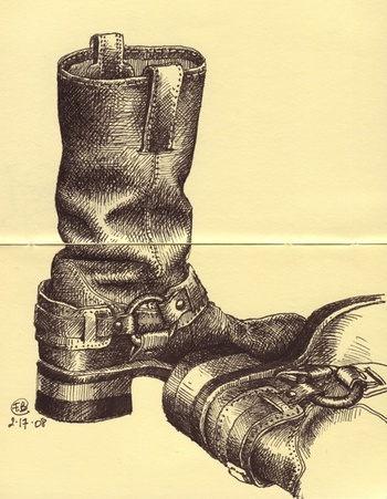 Boots_with_pigma_micron_in_moleskin