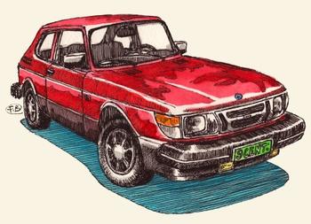 1986_saab_900_red