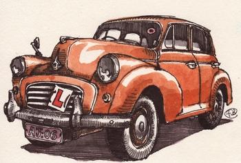 Morris_minor_orange_saloon_1